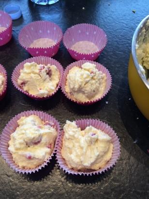 Auch die Himbeer-Eiweiß-Muffins (mit Quark), gingen vom Geschmack, aber waren sehr trocken!